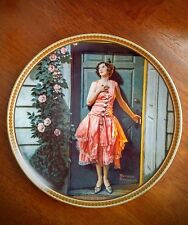 Standing in the Doorway by Norman Rockwell Collection Plate