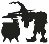 Witches Halloween Cauldron Magic Spells Broom Vinyl Decal Stickers sma SM7-34