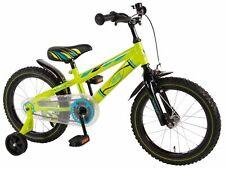 16 Zoll Fahrrad mit Rücktritt und Stützräder Kinderfahrrad Jungen Kinderrad Grün