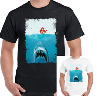 Mens Funny Jaws Parody T-Shirt 70's Classic Movie Film Scuba Diving Fishing Fish