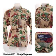 VTG POLO Ralph Lauren Mens M Quail HUNTING Outdoorsman Button Down Shirt Vintage