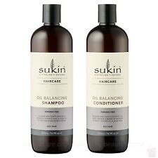 Sukin OIL BALANCING shampoo and conditioner DUO SET 500ml each