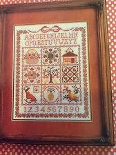 Country Patchwork counted cross stitch magazine pattern, fabric & floss lot