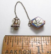 Vintage Order of the Eastern Star OES 32nd Degree 10K & 14K Gold 2pc Lapel Pin