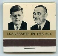 John F Kennedy JFK Lyndon Johnson 1961 Inauguration Matchbook Matches - BL02