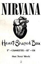"28/8/93PGN21 NIRVANA : HEART SHAPED BOX SINGLE ADVERT 7X10"""