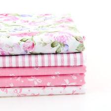 5PCS 40CM*50CM diy pink floral patchwork cotton fabric ZAKKA craft quilt tecido