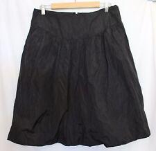 CCDK COPENHAGEN ~ Danish Design Black Polyester Knee Length Full Skirt 38 Aus 14