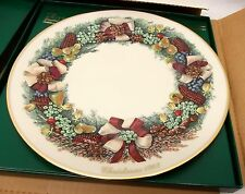 Lenox China Colonial Wreath Christmas 2nd Plate 1982 Massachusetts Box + Coa