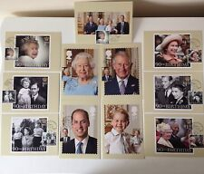 2016 HM QUEEN 90th BIRTHDAY Used PHQ CARD SET With POST MARK NO 13793 LONDON