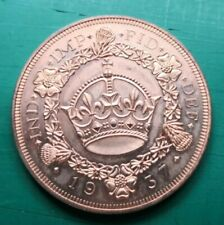 More details for 1937 edward the 8th wreath crown fantasy in copper #071