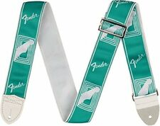 "Genuine Fender 2"" Monogrammed Adjustable Guitar Strap w/ Logo, Sea Foam Green"