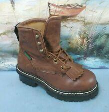 Georgia Boot Unisex Children's GB00001  Brown Leather Size 13.5 M