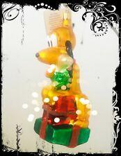 Authentic Christopher Radko Disney Noel Pluto Handcrafted Glass Ornament in Box