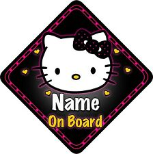 Personalised Baby/Child On Board Car Sign Princess Kitty 5