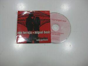 ANA TORROJA / MIGUEL BOSE CD SINGLE BENELUX NADA PARTICULAR 2000 PROMO