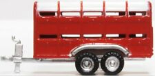 N Scale livestock or horse trailer farm/ranch- Red