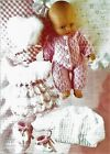 Knitting pattern, Baby doll clothes. Christmas stocking filler. Toy.