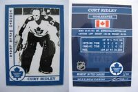 2015 SCA Curt Ridley Toronto Maple Leafs goalie never issued produced #d/10