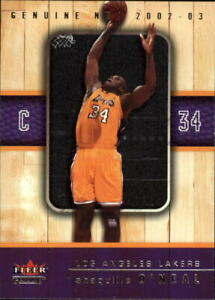2002-03 Fleer Genuine Basketball Card Pick