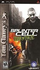 Tom Clancy's Splinter Cell: Essentials (Sony PSP 2006) GAME AND CASE NICE NES HQ