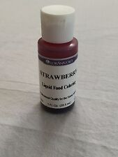 Lorann Oils Liquid Food Coloring 1oz Bottle - STRAWBERRY with FREE SHIPPING