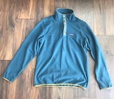NEW Patagonia Micro D Snap-T PIKI GREEN Pullover Fleece Sweater Size S