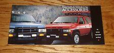 Original 1989 Nissan Hardbody Pathfinder Van Accessories Sales Brochure 89