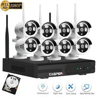 1080p 8 Channel NVR Security CCTV Kit 8 x 1080P Wireless HD Cameras With 4TB HDD
