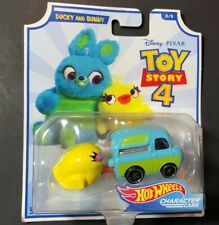 Disney Pixar Toy Story 4 Complete Set of 8 Hot Wheels Character Cars