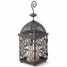 Moroccan Birdcage Black Metal Candle Lantern