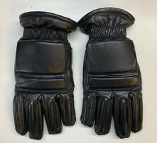 Genuine Ex Police Riot Gloves Black Leather Motorcycle Event Security SIA USED