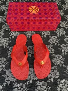 Tory Burch Monroe Thong Sandal Exotic Red Size 8.5 Flip Flop
