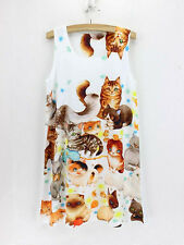 Tolles Katzen Print Kleid  Gr. M 38 Minikleid Katze