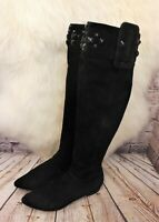 Womens Medea Black Suede Zip Up Low Heel Knee High Boots UK 3 EUR 36