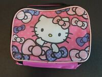 HELLO KITTY Lunchbox PINK Small girls NWOT BACK TO SCHOOL! bts