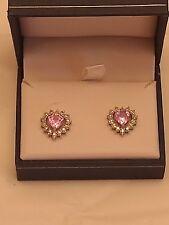 10K white Gold & Pink Sapphire Earrings
