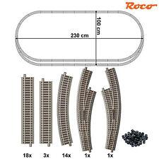 Roco 61152-S1 H0 Gleis-Set 37-teilig mit 2 Bogenweichen ++ NEU ++