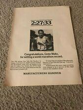 Vintage 1978 GRETE WAITZ RECORD BREAKER RUNNER Hanover Shoes Poster Print Ad 70s