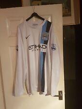 manchester city  2013/14 ultra rare white nike 3rd long sleeve away shirt  XXL