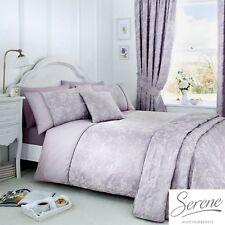 Serene Jasmine Jacquard Easy Care Duvet Cover Bedroom Range Lavender