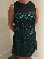 Black And Green Sleeveless Dress By Fearne Cotton Size 16
