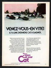 1974 ARTIC CAT Snowmobile Vintage Original Print AD - Canada French Panther snow