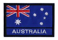 Patch badge écusson patche drapeau AUSTRALIE 70 x 45 mm à coudre brodé