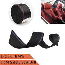 1PC 3.6M Car Seat Belt M Style Strip Racing Ribbon Webbing For BMW 1 3 5 Series
