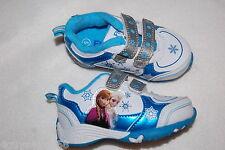 Toddler Girls Frozen Athletic Shoes Turquoise White Silver Elsa Anna Snowflake 7
