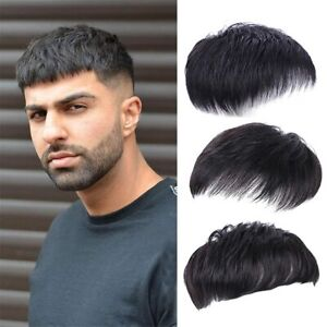 Men Short Toppers Hairpiece Real Human Hair Clip in Crown Hair Pieces for Coveri