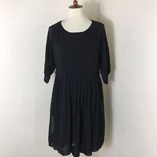 Hatch Maternity Chiffon Dress Size 2 US 8 Black NWT $288