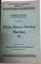 white sewing manual free