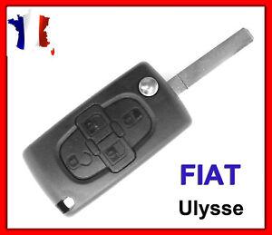 Coque Clé Télécommande Plip Boitier FIAT ULYSSE 4 Boutons